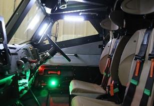 EELTEX lighting in a Supacat Armoured Vehicle