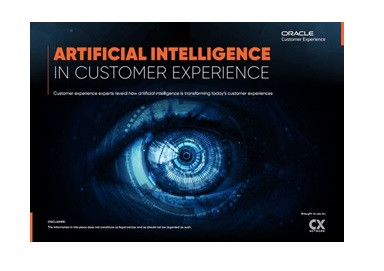 Image of report on artificial intelligence in customer experience