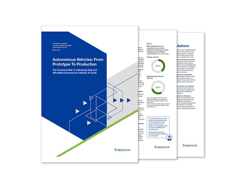 Forrester and Arm webinar: Autonomous Vehicles from Prototype to Production