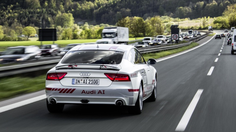 Audi A7 Piloted drive concept testing on public roads