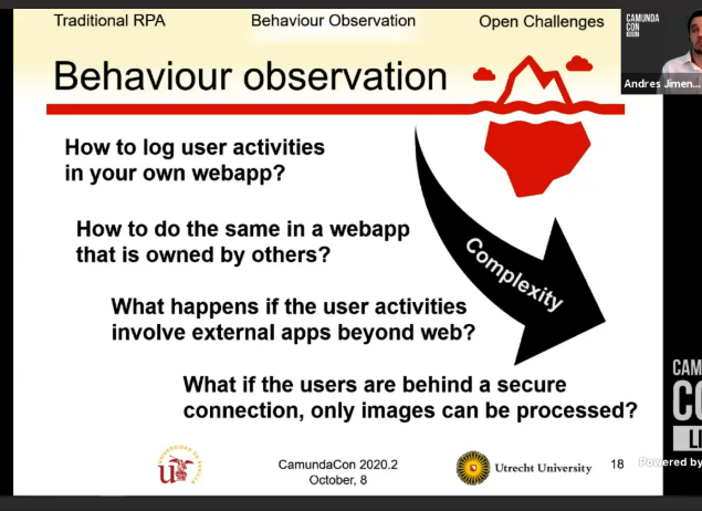 behaviour observation questions of complexity