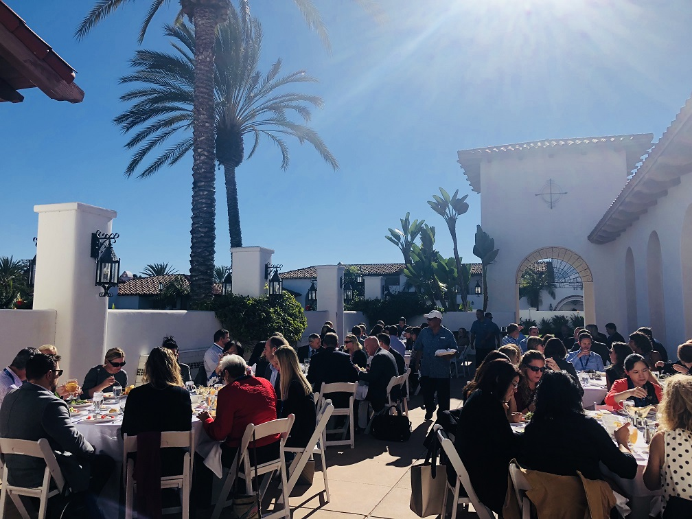 15th CLO Exchange_diverse group of people enjoying lunch in the California weather