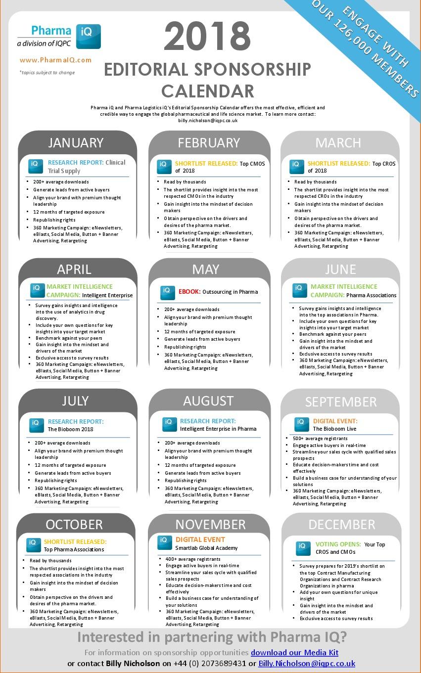 Editorial Sponsorship Calendar