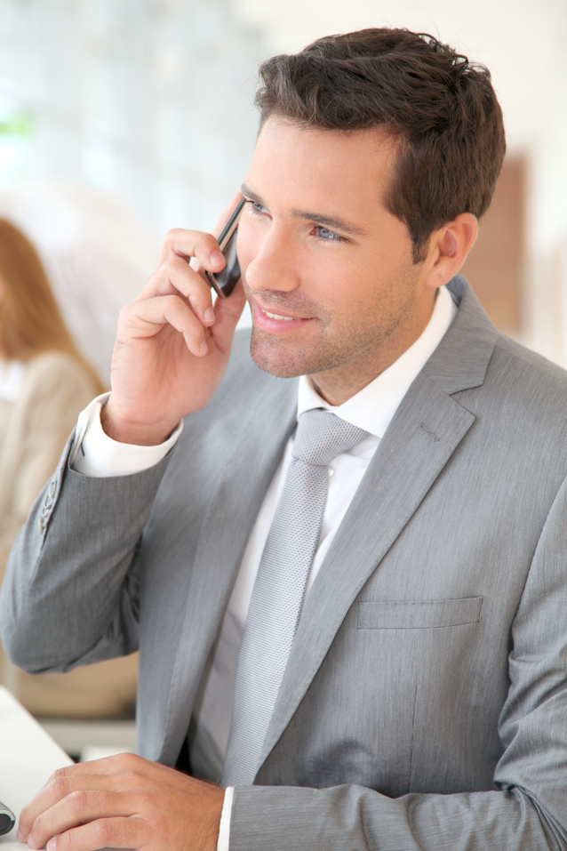 Employee Referral_Businessman talking on the phone