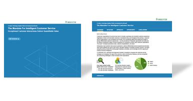 Forrester Study: The Mandate for Intelligent Customer