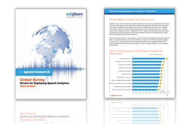 Image of uniphore speech analytics report