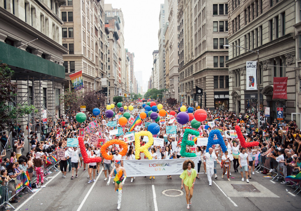 L'Oreal USA Pride March