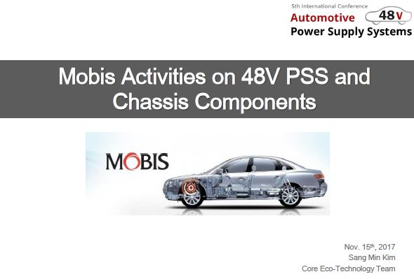 Mobis Activities On 48v Pss And Chassis Components Automotive Iq