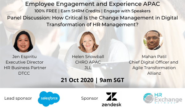 Panel Discussion: How Critical Is Change Management in Digital Transformation of HR?