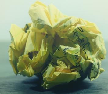 Yellow paper ball
