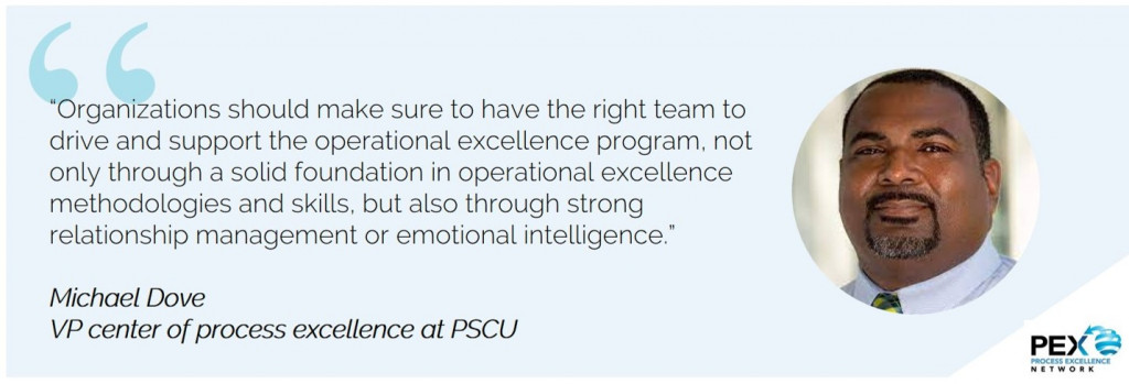 PSCU operational excellence Lean