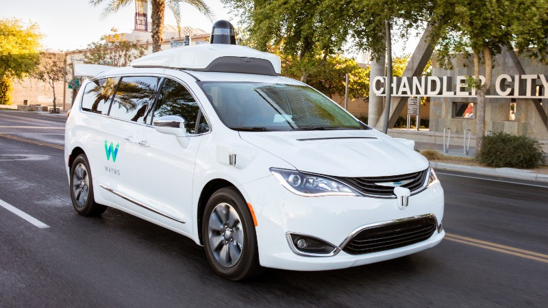 Waymo uses modified Chrysler Pacifica minivans to test its automated driving software and hardware