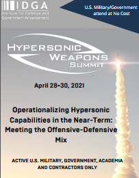 Hypersonic Weapons 2021 Agenda