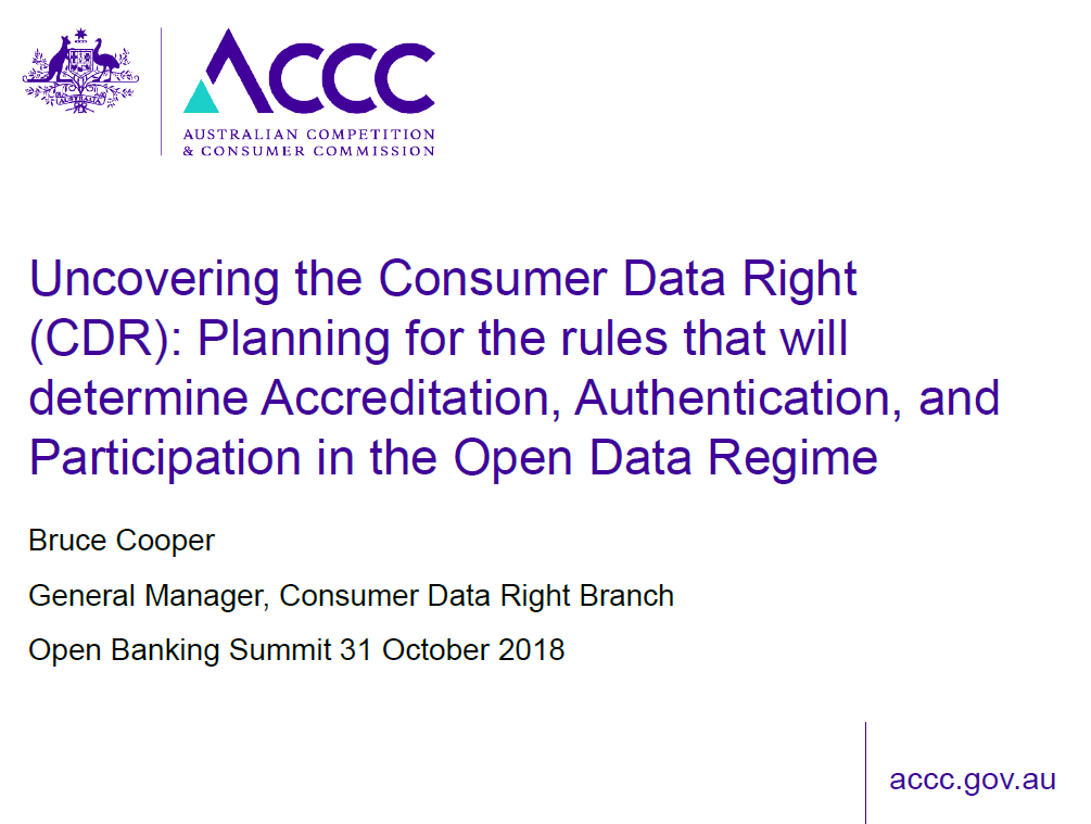 Uncovering the Consumer Data Right: Exploring the rules that will Determine Accreditation, Authentication and Participation in the Open Data Regime