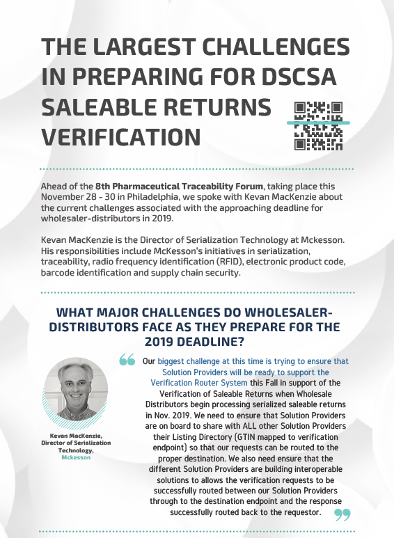 McKesson on: The Largest Challenges in Preparing for DSCSA Saleable Returns Verification
