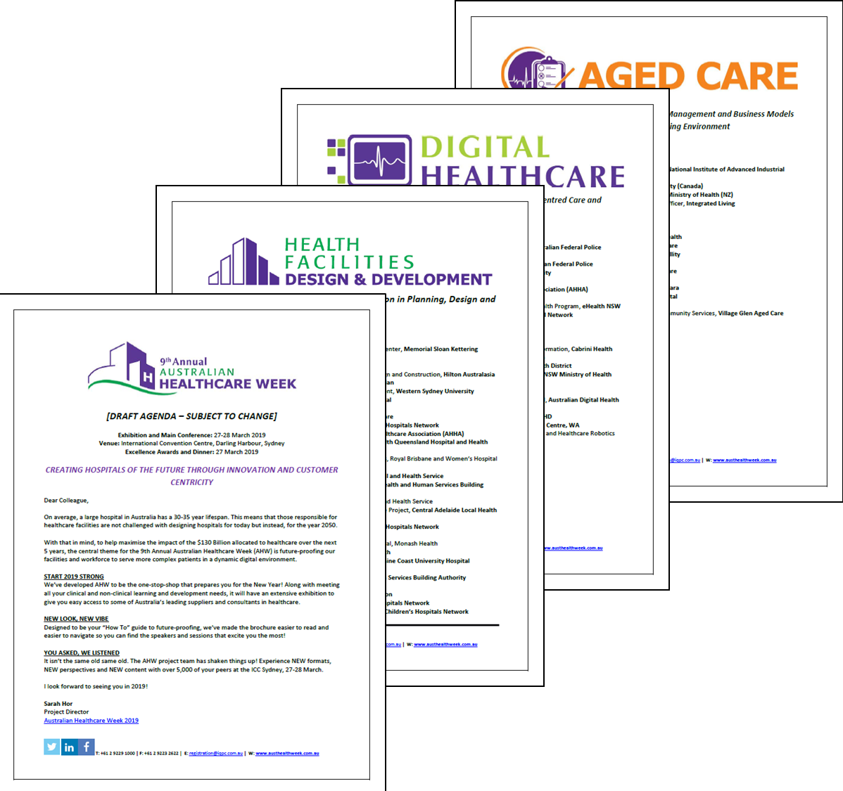 View the Draft Agenda - The 9th Annual Australian Healthcare Week 2019