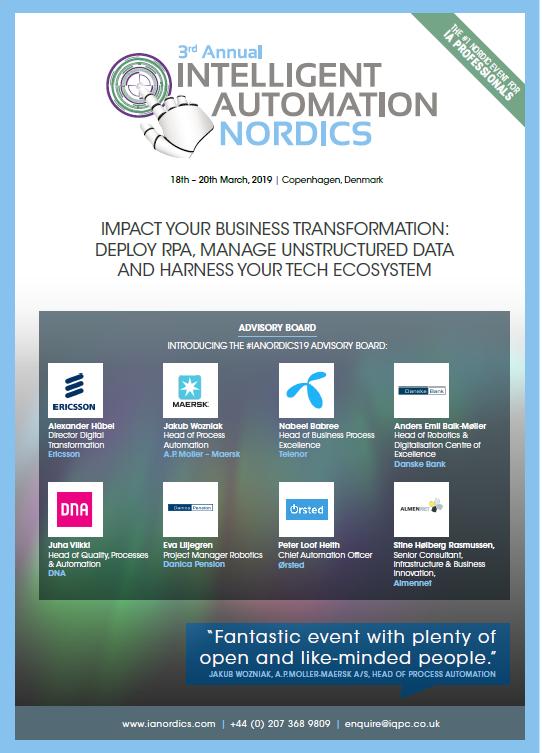 Intelligent Automation Nordics 2019 Event Guide