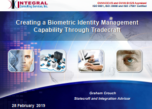 Creating a Biometric Identity Management Capability Through Tradecraft