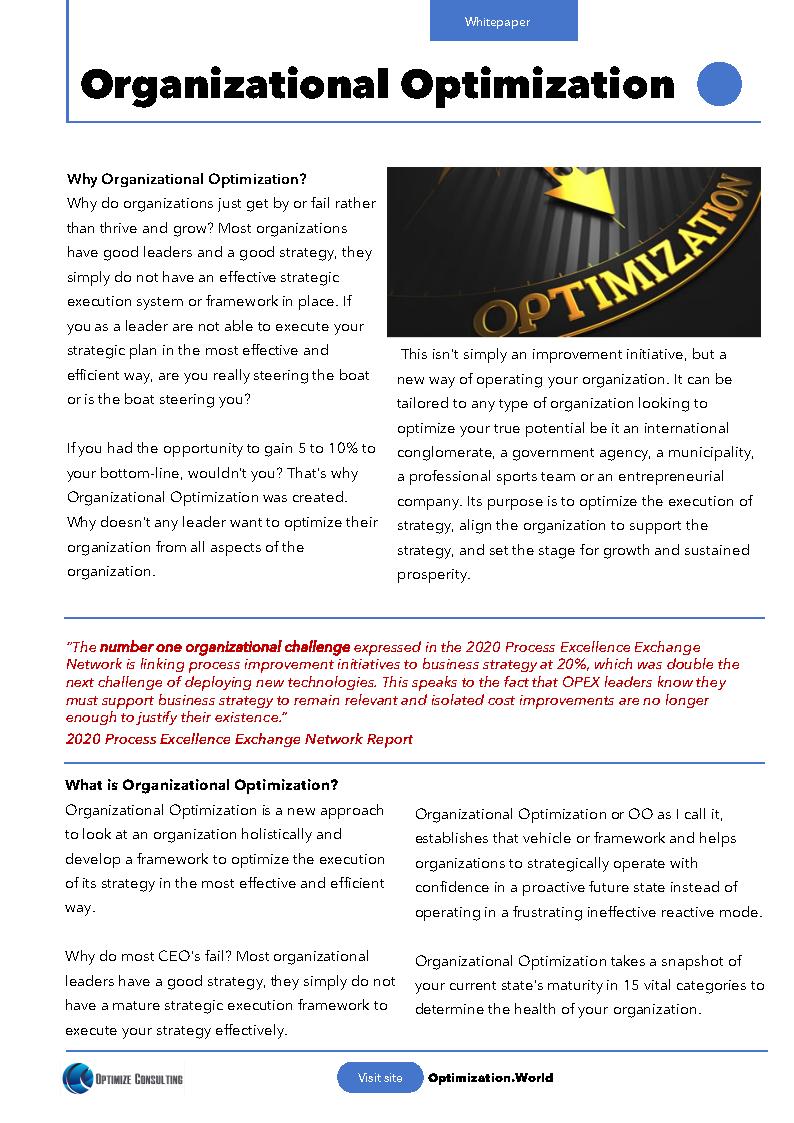 Organizational Optimization