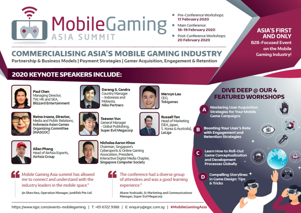 [For Sponsors] View the 2nd Mobile Gaming Asia Summit 2020 Event Guide