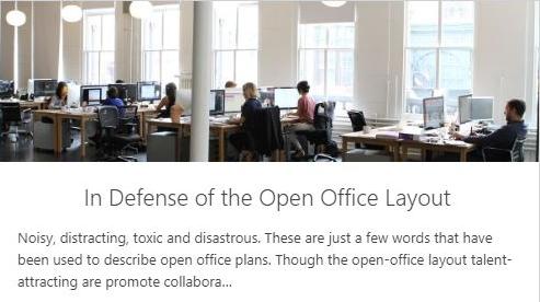 Making Open Office Layout Work