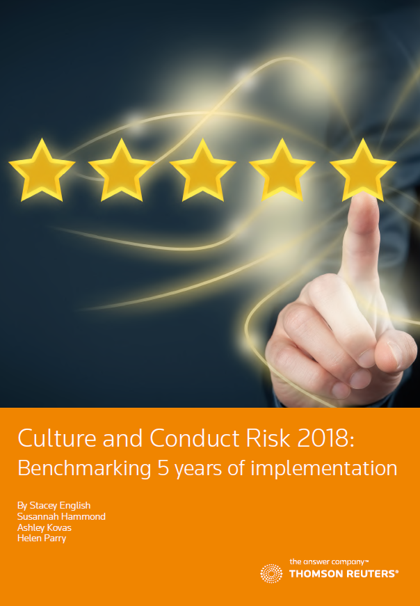 Culture and Conduct Risk 2018: Benchmarking 5 years of implementation
