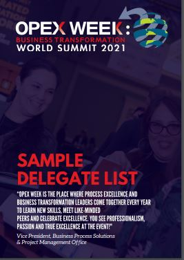 Who you could meet - OPEX Week Sample Delegate List