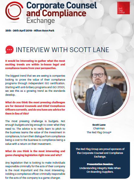 A View From the Top: Interview with Scott Lane, Chairman, The Red Flag Group
