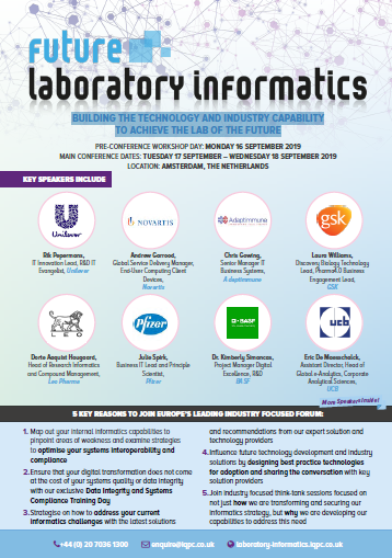 Download the Agenda: Future Laboratory Informatics 2019