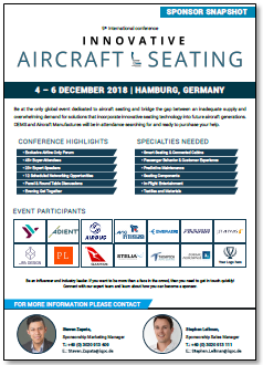 Partner Content: 9th Int'l Innovation Aircraft Seating Conference - Event & Sponsor Snapshot
