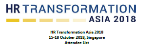 HR Transformation Asia Summit - Delegate List - SPEX