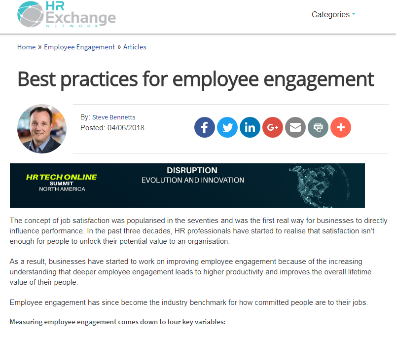 Best Practices for Employee Engagement