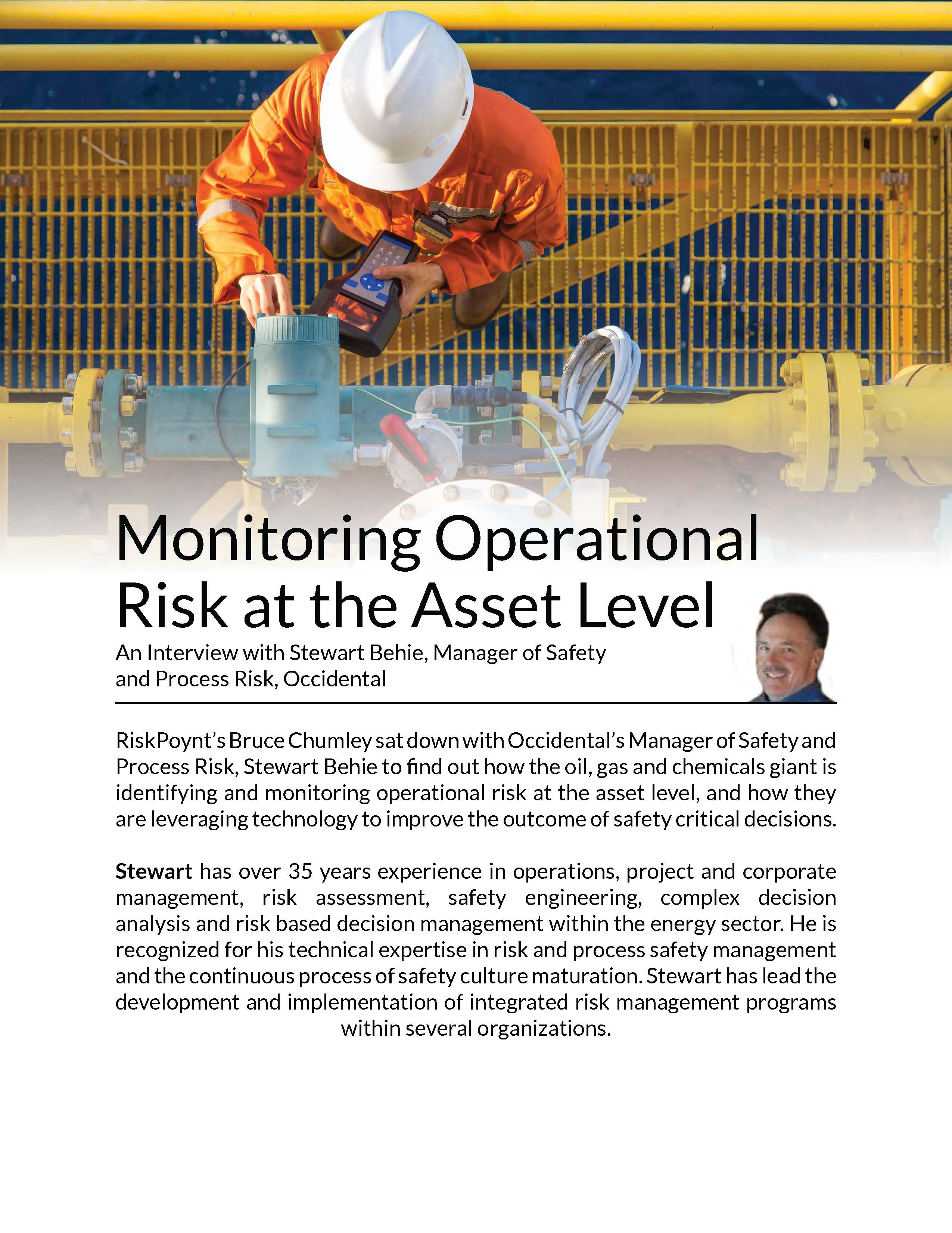 Monitoring Operational Risk at the Asset Level