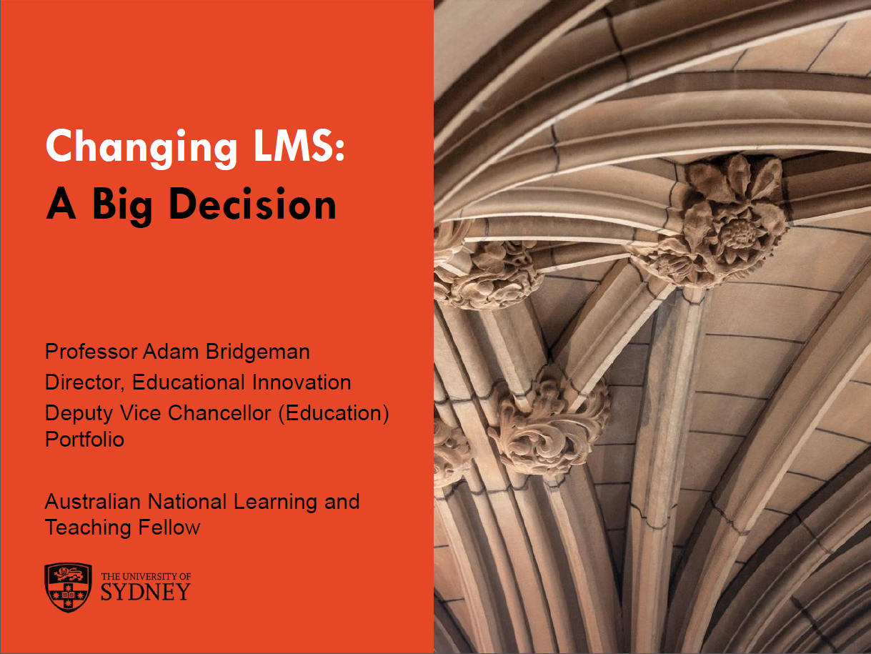 Changing LMS: a big decision but a huge opportunity to change teaching across an institution