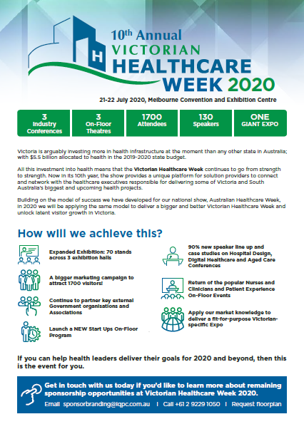 Victorian Healthcare Week 2020 Sponsorship Opportunities