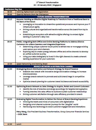 View the Branch Transformation Preliminary Agenda