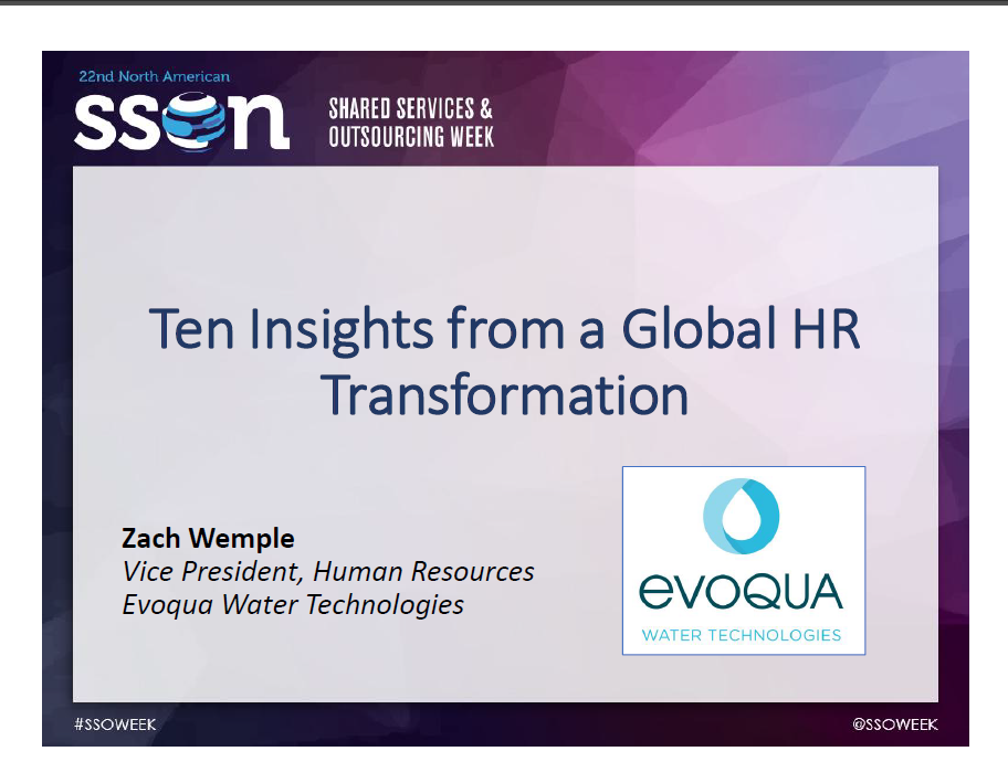 Ten Insights: From a Global HR Transformation