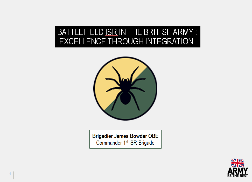 Past Presentation: Battlefield isr in the British army - Excellence through integration