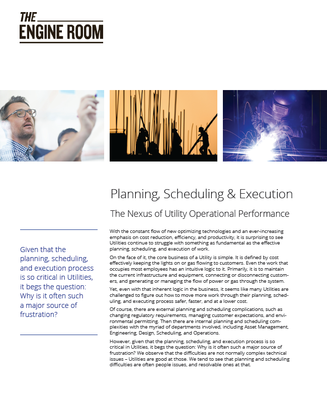 Planning, Scheduling & Execution - The Nexus of Utility Operational Performance