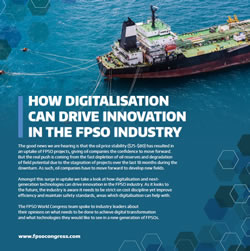 Why Digitalisation is Driving Innovation in the FPSO Industry