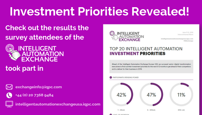 [Infographic] Senior USA IA Leaders 2019 Investment Priorities Revealed SPEX