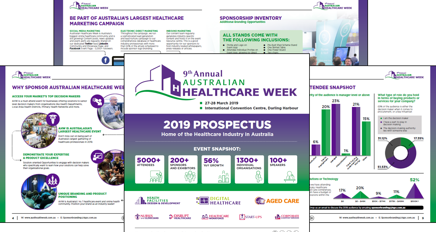 9th Annual Australian Healthcare Week 2019 Sponsorship Prospectus