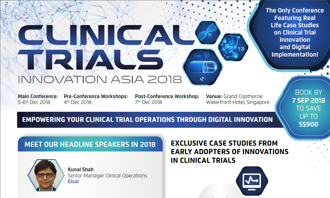 Download your event guide - The Official Brochure of Clinical Trials Innovation Asia Summit 2018