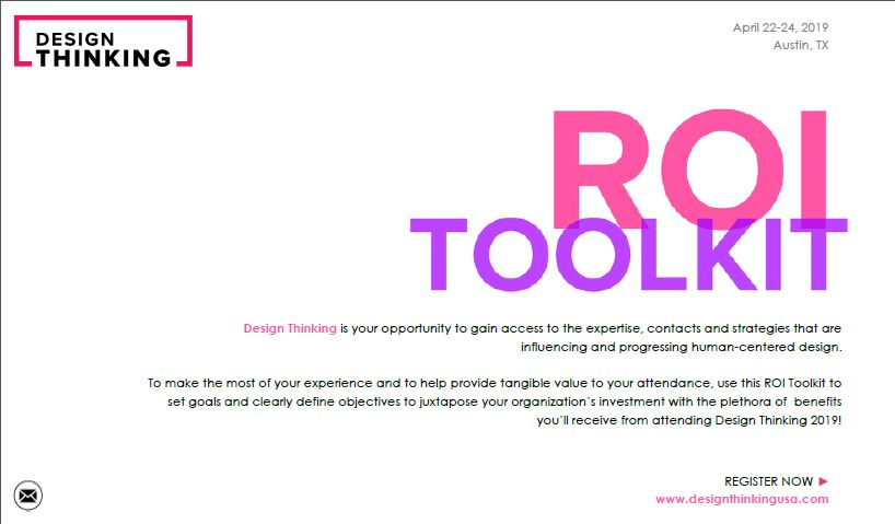 2019 Design Thinking ROI Toolkit