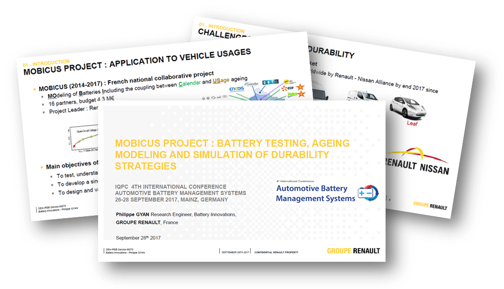 Renault on battery testing, ageing modeling and simulation of durability strategies