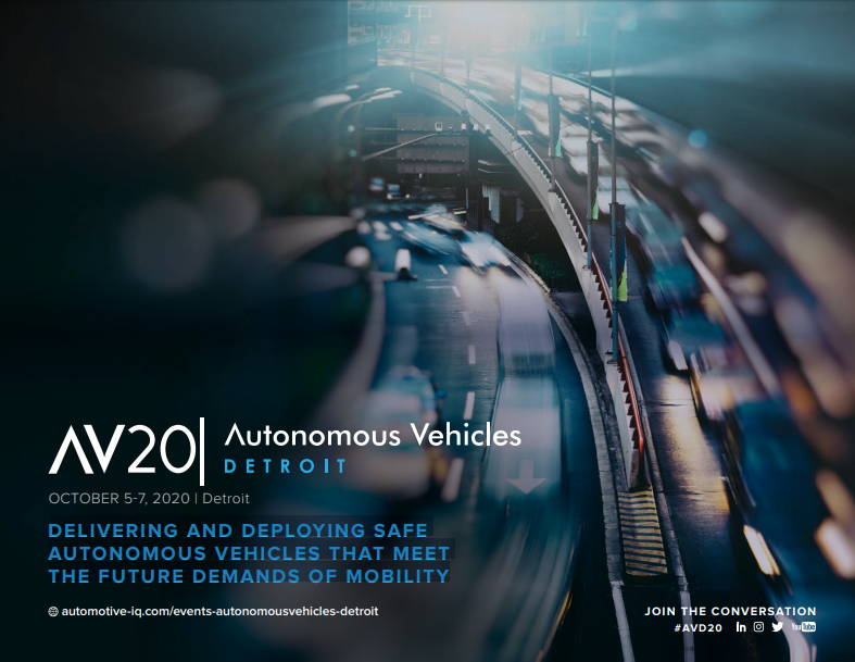 Autonomous Vehicles Detroit 2020 - Preliminary Program