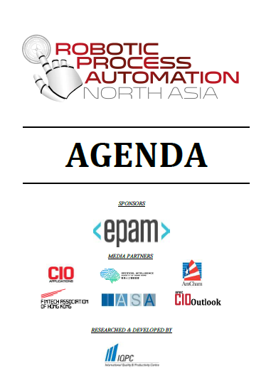View Full Agenda - RPA North Asia 2018