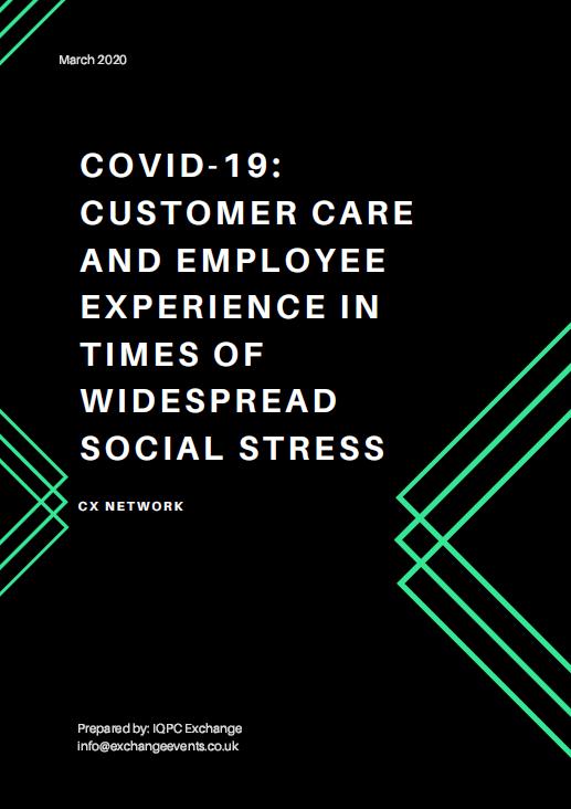 Customer Crisis: COVID-19