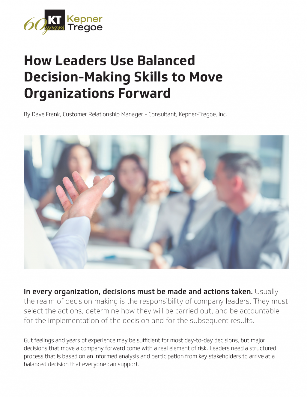 How Leaders Use Balanced Decision-Making Skills to Move Organizations Forward