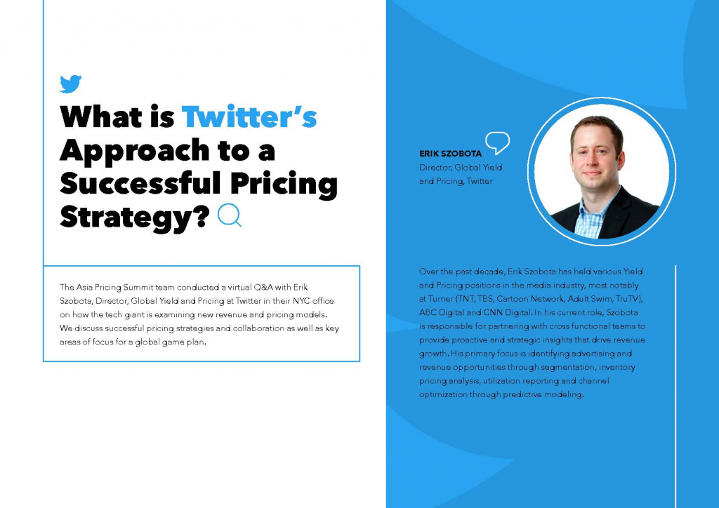 Read the Interview - What is Twitter's Approach to a Successful Pricing Strategy?